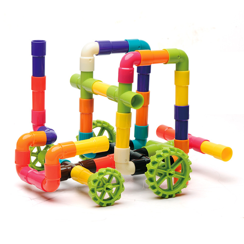 Pipe Building Block Plastic Assembly Toy Early Education Compatible Building Block Assembly Toy