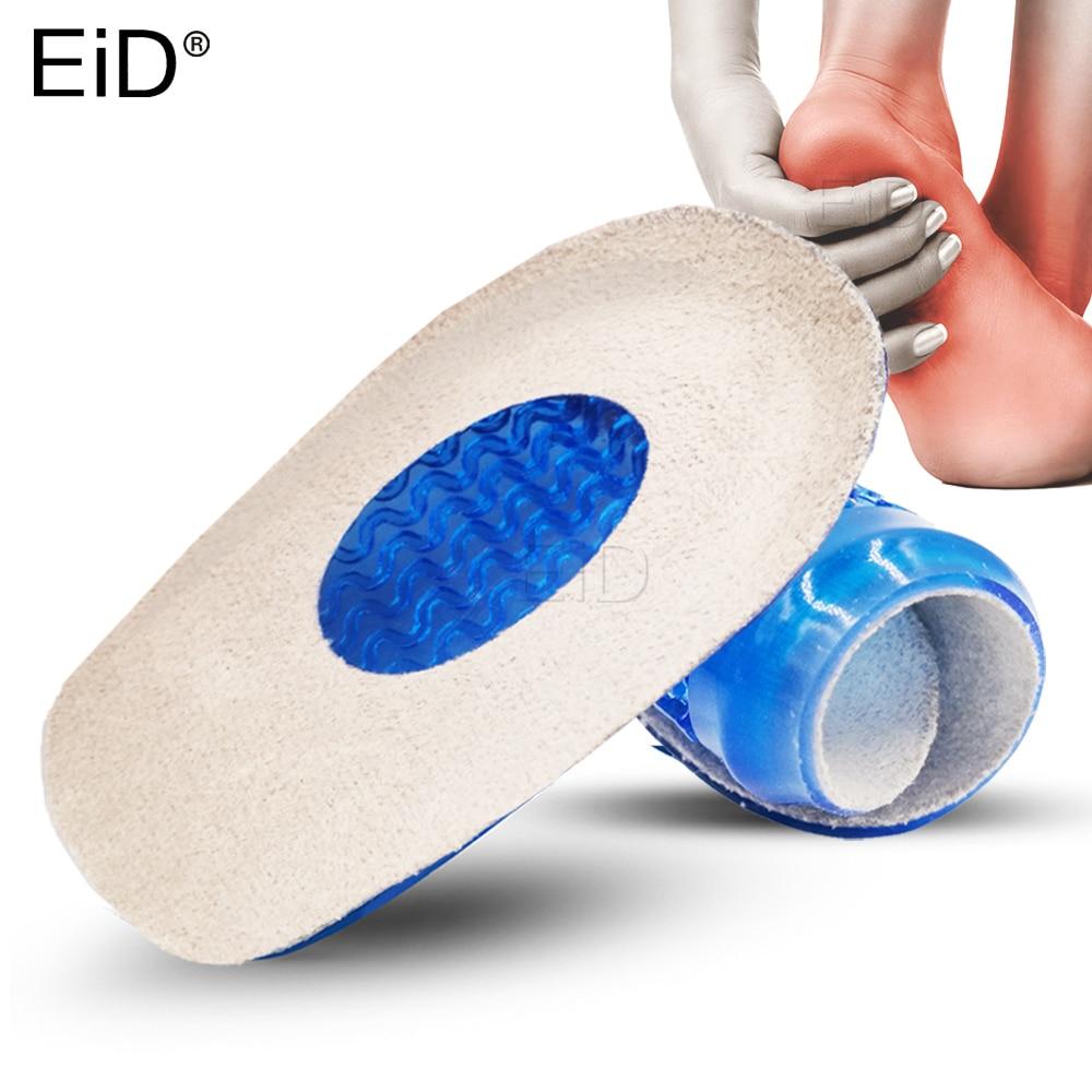 Silicone Grl Insoles For Plantar Fasciitis Achilles Tendonitis Half  Heel Spur Pad Pain Relief Flannel Massage Inserts Man Women