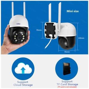 Image 3 - KERUI 야외 방수 무선 3MP 와이파이 IP 카메라 돔 4X PTZ 디지털 줌 IR 카메라 홈 보안 Onvif CCTV 감시