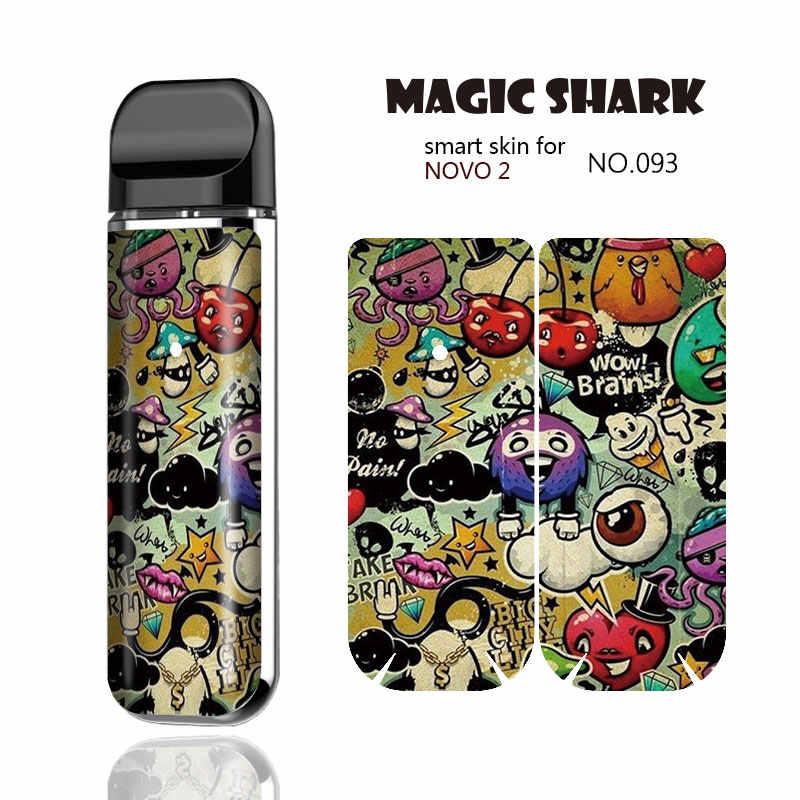 ماجيك القرش Toroto بيري الجمجمة خطر GTA5 PVC Vape ملصقا حالة كامل التفاف فيلم عدة الجلد غطاء ل Smok نوفو 2 Novo2