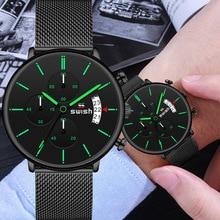 SWISH montre à Quartz pour hommes, montre bracelet de sport, étanche, marque de luxe, en acier inoxydable, pour hommes, 2020