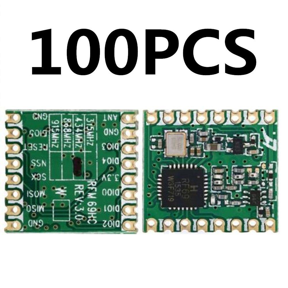 100pcs RFM69HC RFM69HCW Lora module FSK Wireless Transceiver Module SX1231 433  915M 16 * 16mmReplacement Parts & Accessories   -