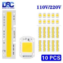 10 шт/лот 110 В 220 led cob чип лампа Вт 20 30 50 70 100 120
