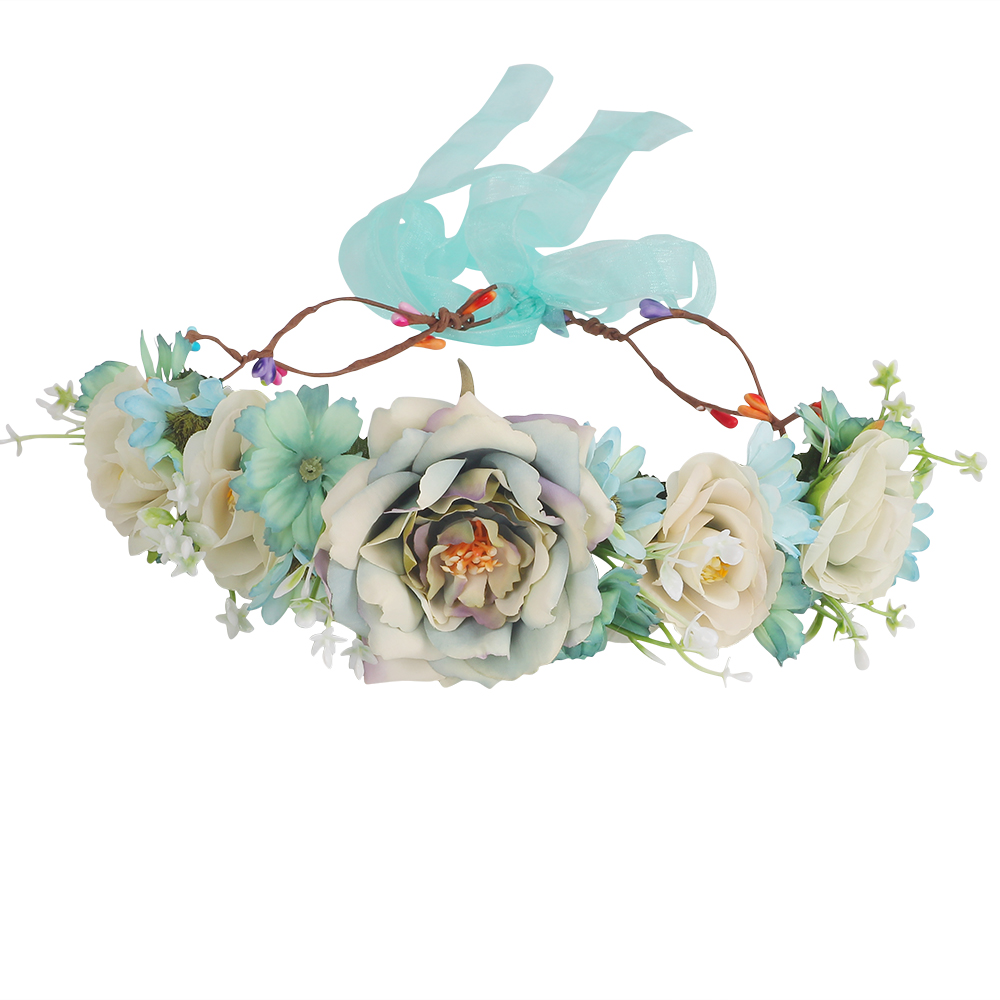 Burgundy Succulent Flower Crown Wedding Floral Headpiece Festival Hair Wreath Bridal Hair Accessories For Girls Headbands