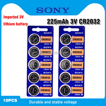 Batteries Watch DL2032 Lithium-Button 10pcs Coin-Cell Remote Electronic SONY for 3V CR