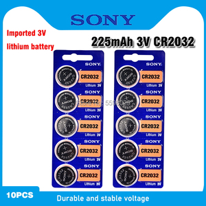 10pcs For SONY CR2032 Lithium Button Coin Cell Batteries 3V CR 2032 DL2032 ECR2032 BR2032 Battery For Watch Electronic Remote