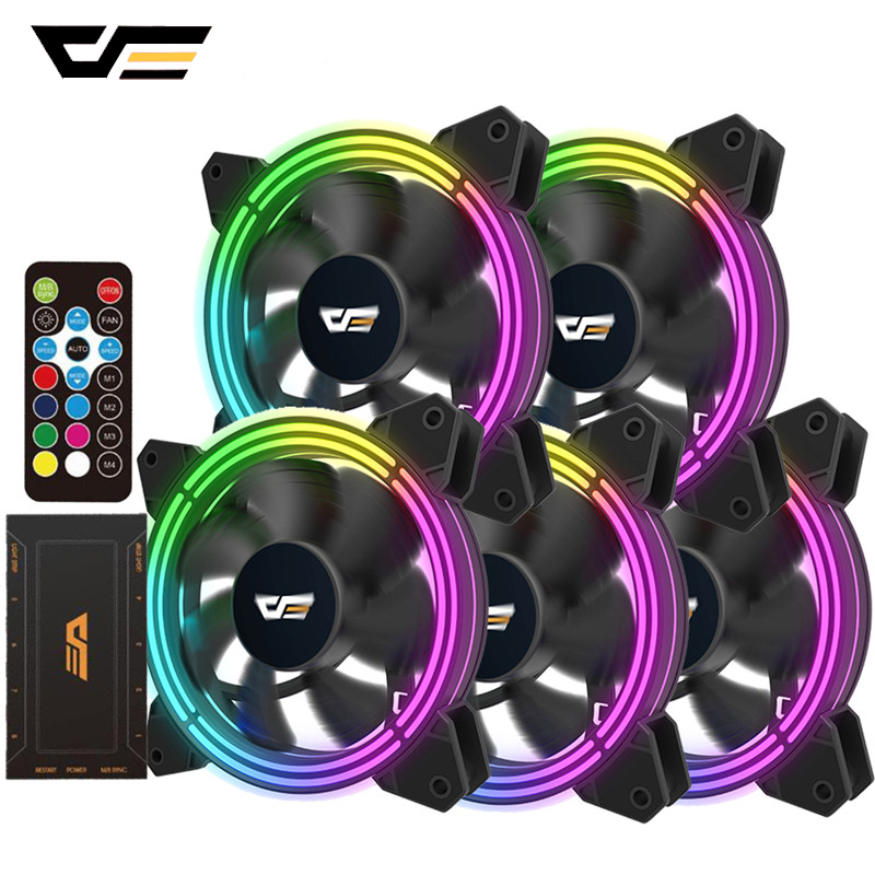 darkFlash CF11 PRO RGB Case Fan 120mm 3P-5v Aura Sync PC Case CPU Cooler Cooling Fan Quiet Remote Adjust Speed Computer Case Fan image