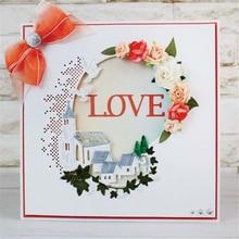Kokorosa Flower House Metal Cutting Dies New 2019 Lace Frame Scrapbooking for Card Making Embossing Craft Die Cut