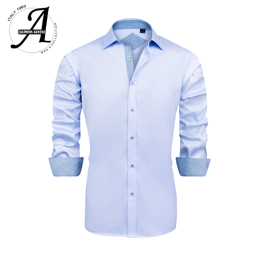 Men Bamboo Fiber Elastic Casual Shirts Regular Fit Non-iron Long Sleeve Dress Shirt Plus size 9XL Easy Care Formal Shirt For Men