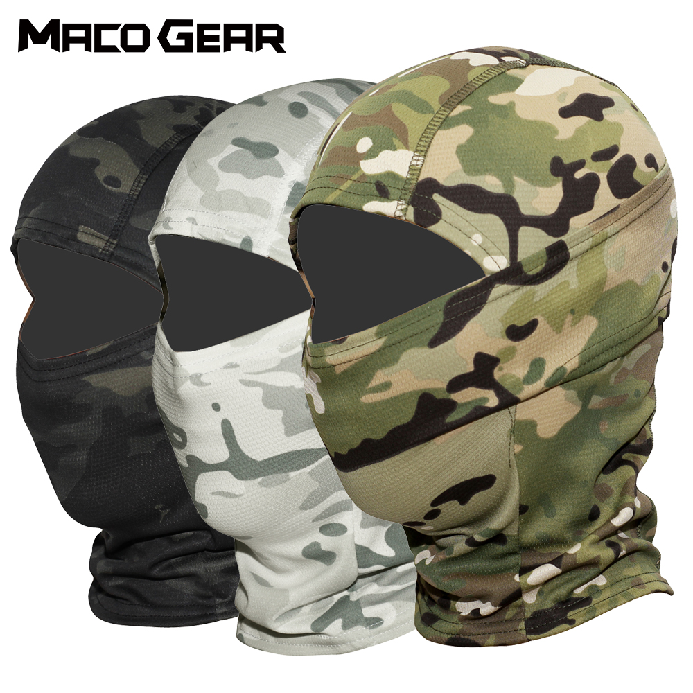 Multicam CP Camouflage Tactical Balaclava Full Face Mask Wargame Cycling Hunting Army Bike Military Helmet Liner Airsoft Cap Hat|Scarves| |  - title=