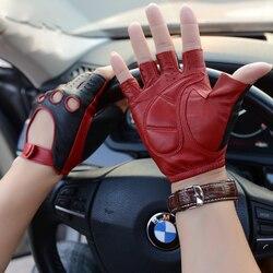 Gants en cuir nouveau Style printemps été mâle demi doigt Locomotive gants mode respirant non doublé homme conduite mitaines M52