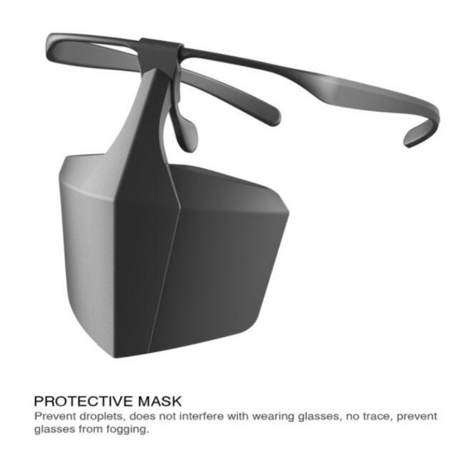 New Style Anti-fog Face Mask Prevent Saliva Spread Mask Face Shield Against Droplets Reusable Protective Cover Protective Mask