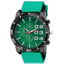 Womage Men Watches Big Dial Men Sports Watches Fashion Rubber Watch Green Band Military Men Watch relogio masculino reloj hombre hot couple lover s watches unique hollowed out triangular dial fashion watch women men fashion dress watch relogio masculino