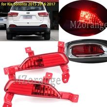 MZORANGE Left/Right Car Red Tail Rear Bumper Reflertor Light Lamp Brake Light Rear Fog Lights for Kia Sorento 2015 2016 2017 стоимость