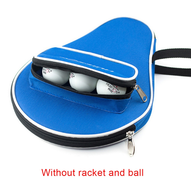 Professional Table Tennis Racket Oxford Case With Outdoor Zipper Pouch For Table Tennis Balls Table Tennis Equipment Bags
