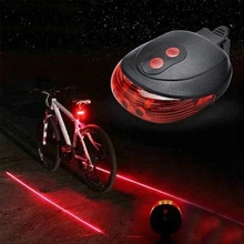 Lazer Lane Bicycle Rear Led Lamp Taillight 7 Different Modes 478936549