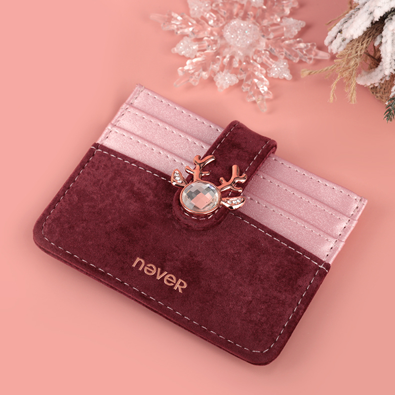 Never Christmas Series ID Card Holder Card Package Business Office Ladies Stationery Supplies Cute Elk Christmas New Year Gift