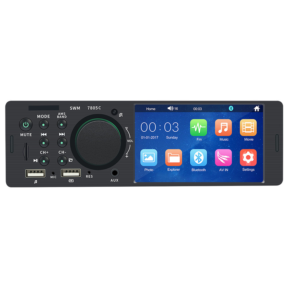 4.1 Touch Screen Car Radio Bluetooth Auto Radio 1 Din Audio Car Stereo Car MP5 Player 12V USB Remote Control Camera image