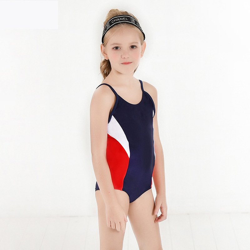 2019 New Style Hot Sales KID'S Swimwear Contrast Color Strap Adjustable Triangular Cross Border Supply Of Goods Girls Baby Girls