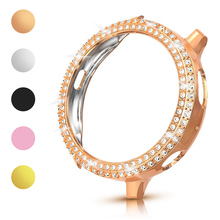 Fashion Two Rows Diamond PC Bumper for Samsung Galaxy Watch Active 2 Case 40mm 44mm Active2 Women Bling Thin Cover Accessories