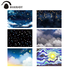 Allenjoy photography backdrops starry night sky clouds dream golden twinkle stars children photo studio background photophone