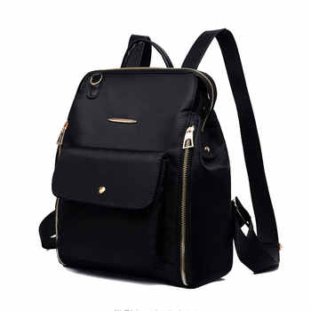 Female Classic Backpack Fashion Design Of Oxford Cloth Soft Bagpack Can Cross The Cross Waterproof Lightweight Casual Bag Solid - DISCOUNT ITEM  45% OFF All Category