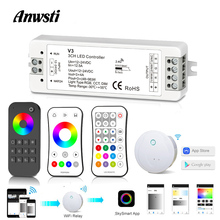 цена на RGB LED Controller 12V 24V DC 12A RF 2.4G Wireless Remote Control Smart Home Wifi RGB   Strip Controller Dimmer for 12 Volt LED Strip Light