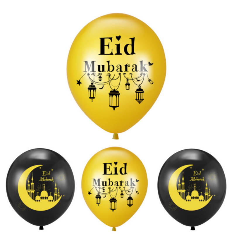 <font><b>50</b></font>/100pcs Eid Mubarak Balloons <font><b>Happy</b></font> Eid Balloons Islamic New Year Decor Ramadan Muslim Festival Decoration Ramadan Supplies image