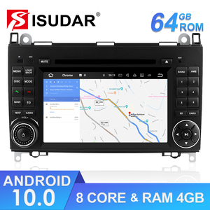 Image 1 - Isudar Car Multimedia Player 2 din Android 10 Stereo System For Mercedes/Benz/Sprinter/W169/B200/B class Car DVD Radio GPS DSP