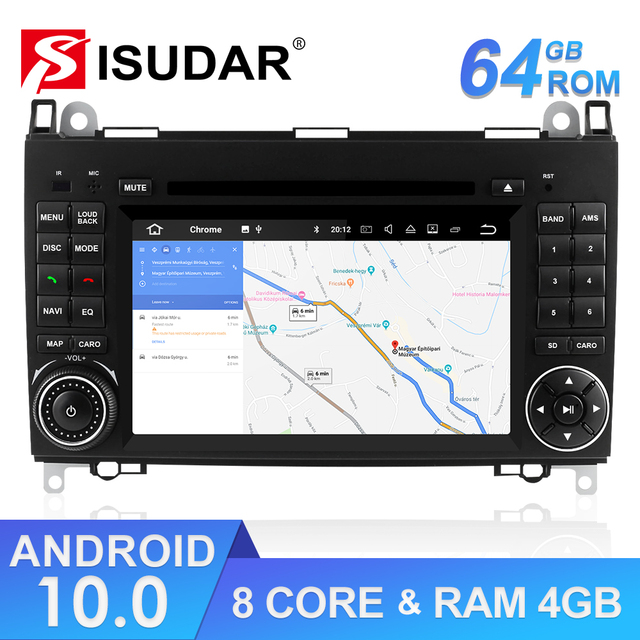 Isudar Car Multimedia Player 2 din Android 10 Stereo System For Mercedes/Benz/Sprinter/W169/B200/B class Car DVD Radio GPS DSP