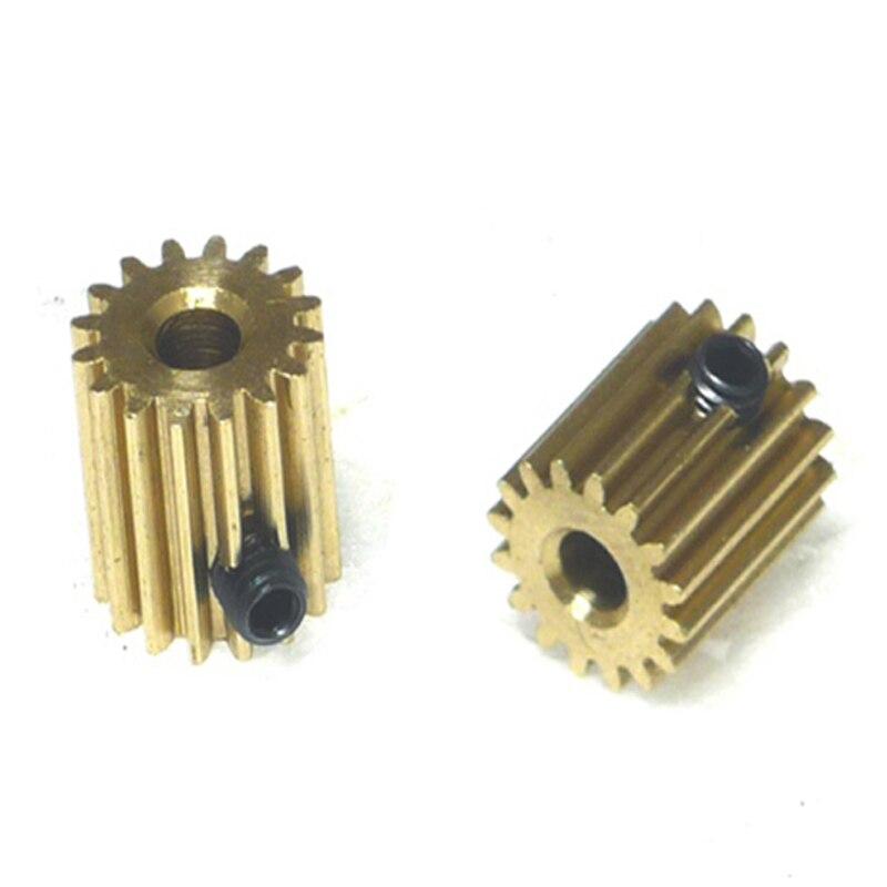 0.5 Modulus Brass Pinion Gear Metal Motor Micro Motor For DIY 12T 13T 14T 15T 16T 17T 18T Bore 3mm 4mm 5mm Quantity 5PCS/10PCS