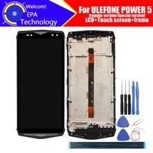 ULEFONE POTENZA 5 Display LCD + Touch Screen Digitizer + Telaio di Montaggio 100% LCD Originale + Touch Digitizer per ULEFONE di ALIMENTAZIONE 5