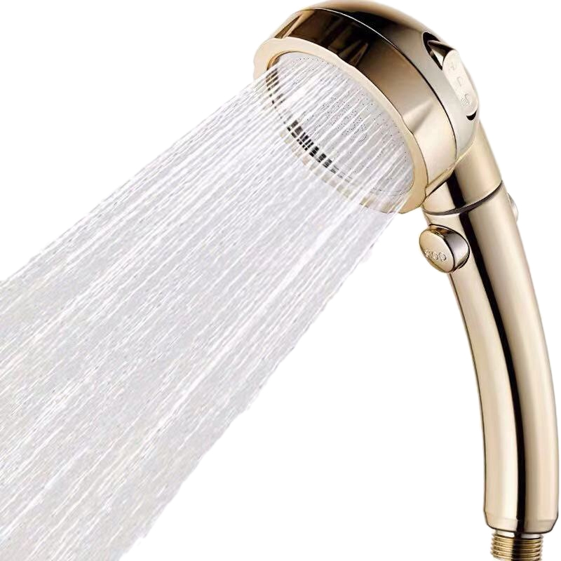 Bathroom 3 Functions Abs Chrome Shower Head With Switch