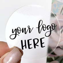 100 pcs Custom Logo Stickers Favors Wedding Stickers Personalized Stickers Label Gold,Kraft,Clear,Photo,Text,Brithday,Party