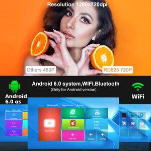 Image 3 - Rigal מיני LED מקרן RD825 Native1280 x 720P אנדרואיד 6 תמיכה HD1080P נייד 3D טלוויזיה קולנוע ביתי WIFI Bluetooth projetor