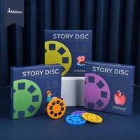 MiDeer-proyector de historias para niños, caleidoscopio de luz nocturna, juguetes educativos de aprendizaje, disco de lámina luminosa