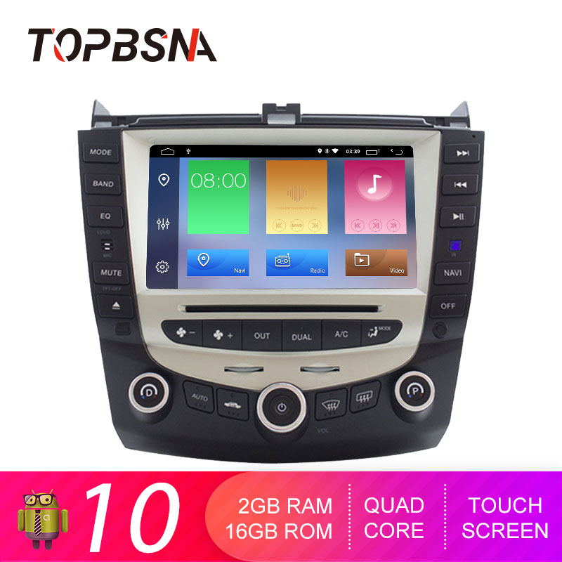 TOPBSNA <font><b>Android</b></font> 10 Auto DVD Player für Honda <font><b>Accord</b></font> <font><b>2003</b></font>-2007 WIFI Auto Multimedia-Player GPS Navi 2 Din Auto radio Stereo Auto RDS image