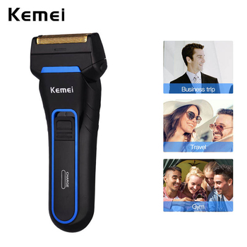 Kemei Rechargeable Electric Shaver Reciprocating Twin Blade Men Razor Rechargeable and Cordless Double Heads Shaving Machine 42D electric shaver multifunctional reciprocating electric razor floating twin blade heads waterproof quick charge face care tools