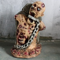 high quality secrets haunted house scary decorations Halloween scary realistic ghost latex decorations props foam zombie rotten