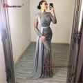 Роскошные вечерние платья Дубая для женщин 2020, блестящие вечерние платья с бисером и юбкой-годе