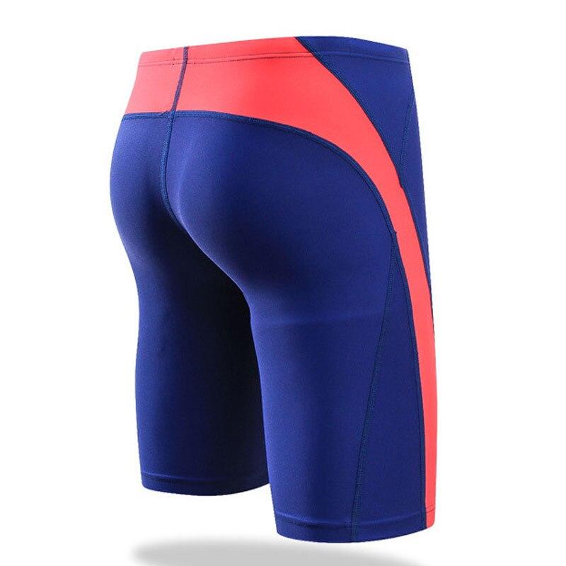 Купить с кэшбэком SABOLAY Men Swimsuit 2020 Anti Chlorinate Dry Sunscreen Spandex Swimming Shorts Swimwear Beach Surf Briefs Swim Trunks Plus Size