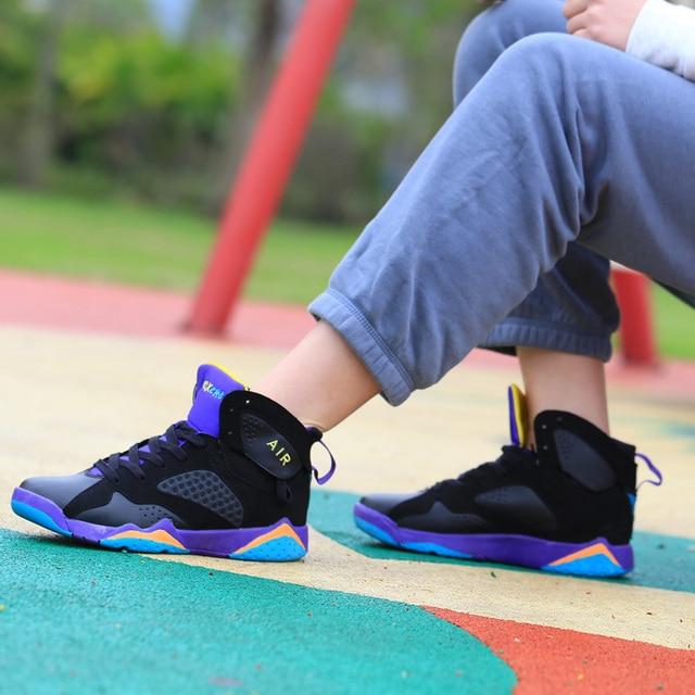 Couple Cushioning Jordan Retro Basketball Shoes Men's High-top Basketball Sneakers Boots Men Outdoor Size 45 Basket Shoes Unisex 3