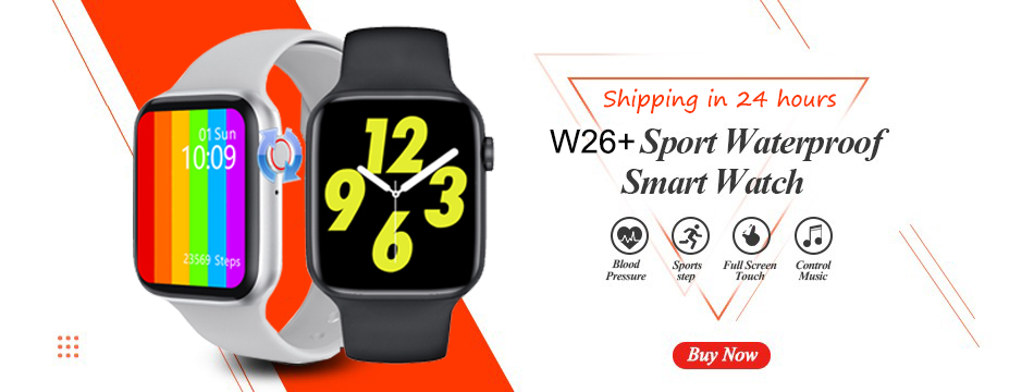 H03bfd36d33ad413897c5584e57119f112 2021 Original IWO W26 W46 Smart Watch Men/Women Heart Rate/Blood Pressure Monitor Clock Smartwatch For Android IOS PK HW22 HW16