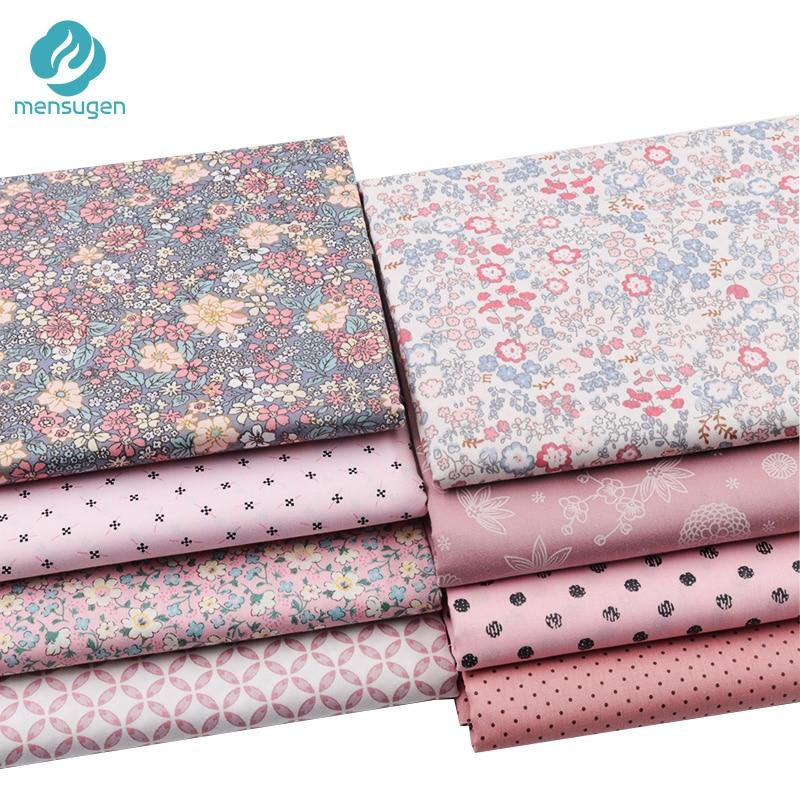 Tela impressa do algodão da sarja para o vestido de costura, cobertores da folha de cama do berço do bebê coxim o pano de diy, tela por metro
