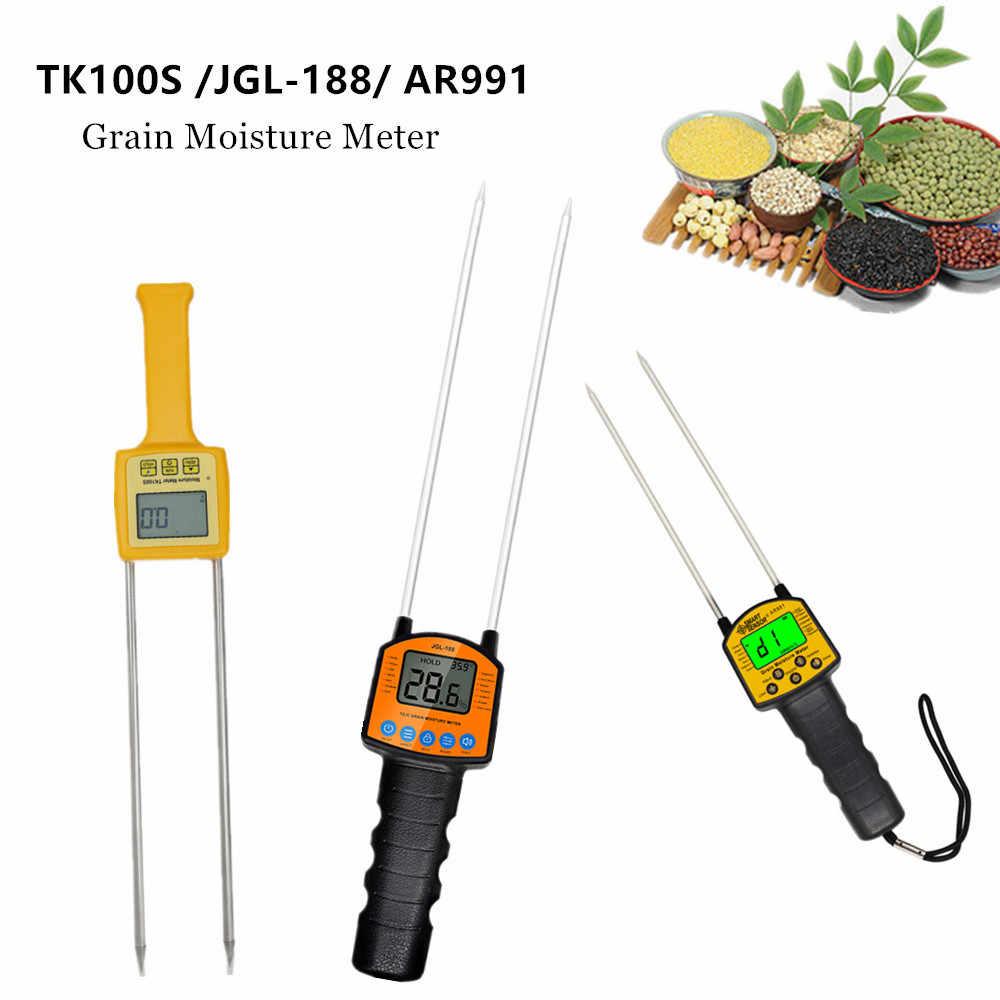 TK100S / JGL-188 / AR991 измеритель влажности зерна, умный датчик, портативный анализатор влажности для кукурузы, пшеницы, риса, бобов, тестер влажности