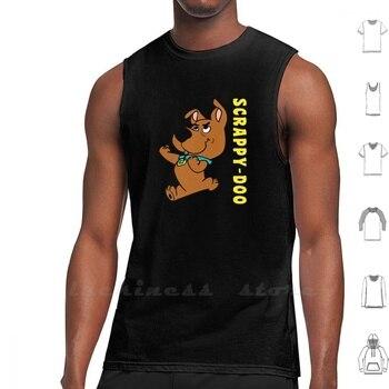 ¡Scrappy-Doo al rescate! Camiseta sin mangas de algodón de los hombres de las mujeres Scrappy Doo Scrappy Scooby Doo Hanna Barbera, dibujos animados de com