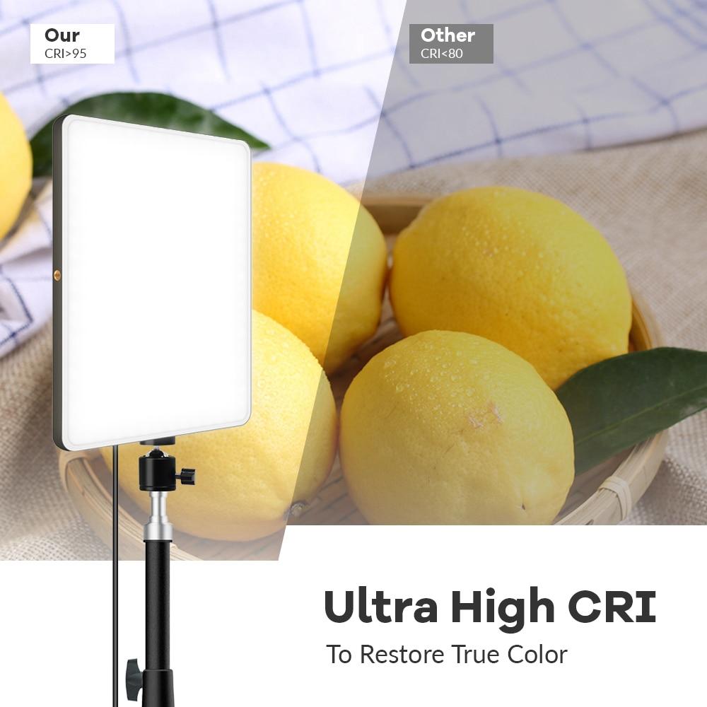 H03bff29fd8954fed97fefddfe22e5fc0j Dimmable LED Video Light Panel EU Plug 2700k-5700k Photography Lighting For Live Stream Photo Studio Fill Lamp Three Color