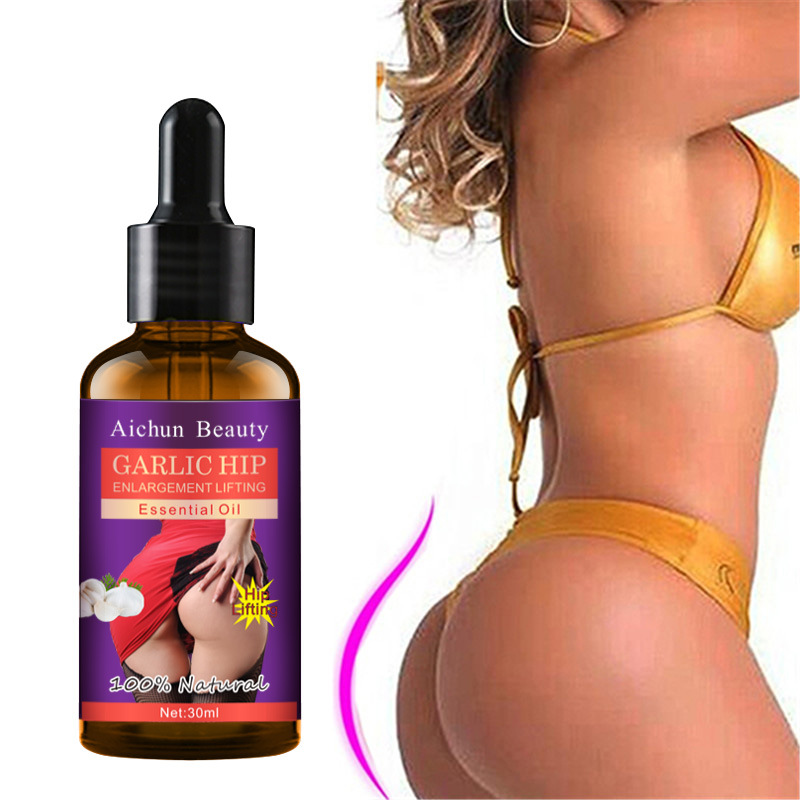 30ml Garlic Hip Enlargement Lifting Essential Oil Buttock Nursing Garlic Big Ass Hip Massage Compact Highlights Curve