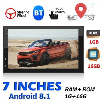 VODOOL 9217 Car Multimedia Player 2 din Android 8.1 7 Touch Screen Stereo Video MP5 Player FM Radio GPS WiFi Camera Autoradio image