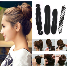4pcs/set Ponytail Creator Hair Styling Tools Black Hair